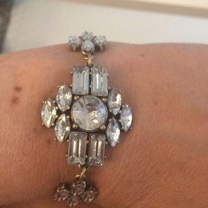 Bronze and rhinestone bracelet